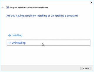 ProgramInstallUninstallTroubleshooter_02   by Penguin360