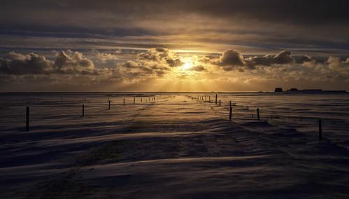 sunset hvolsvöllur iceland