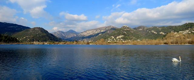 Vallée du Var - Le lac du Broc