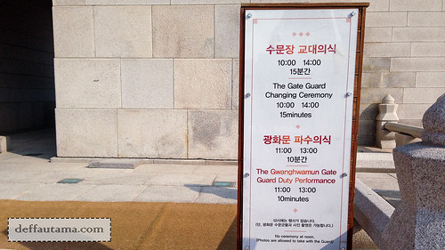5 hari di Seoul - The Gate Guard Schedule | by deffa_utama
