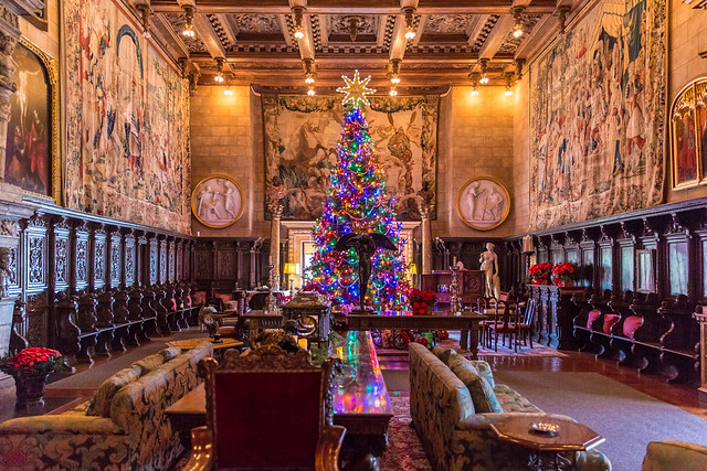 The Great Room at Christmas, Hearst Castle