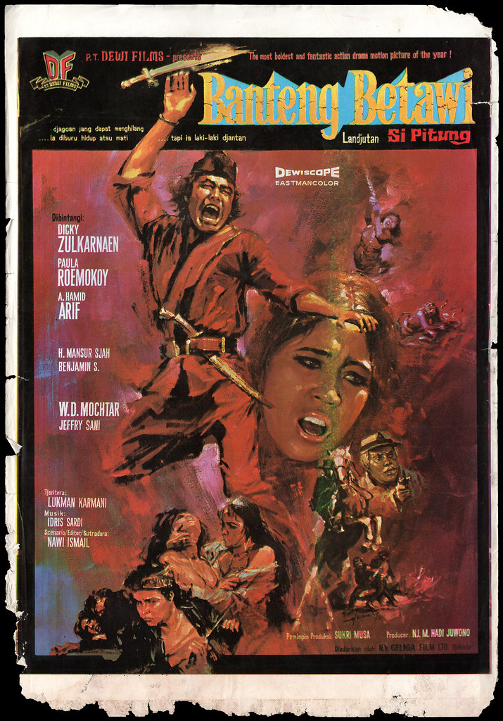 Banteng Betawi 1971 Obverse Indonesian Film Poster Archive Flickr