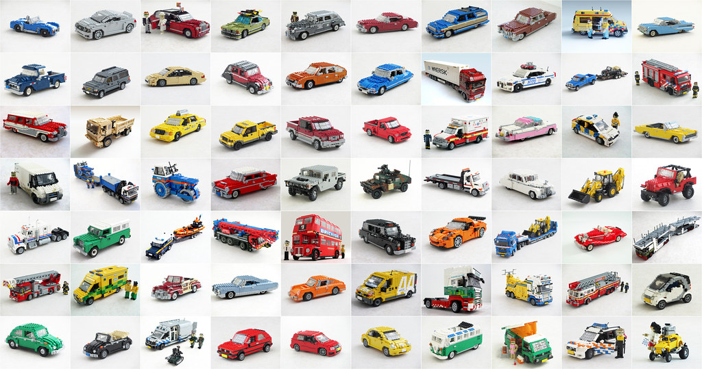 Lego 122 Scale Car And Truck Collection Ive Been Active Flickr