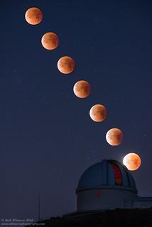 Super Blue Blood Moon Composite | by Rick Whitacre
