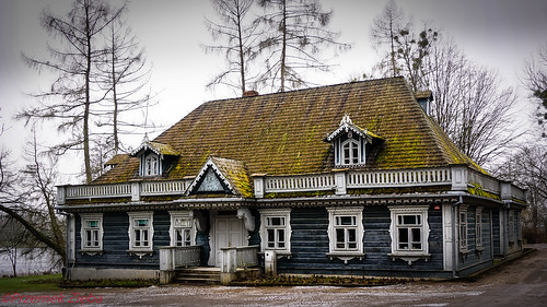 The Czars Hunting lodge in the Białowieża Palace park Poland   by PREMZIEBA