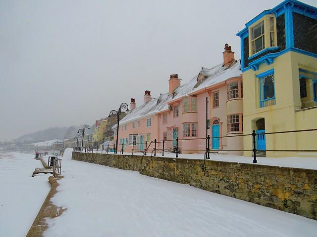 Lyme Regis in the Snow