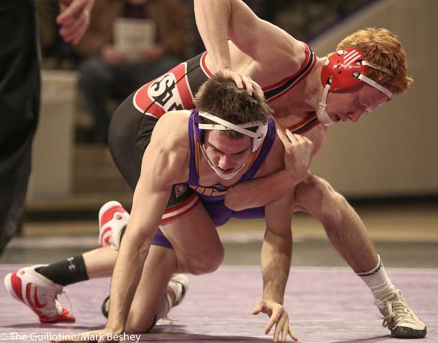 141: #3 Jared Oftedahl (SCS) Dec. over Louie Sanders (MSU) 1-0 | SCS 3-0 MSU - 180203amk0003