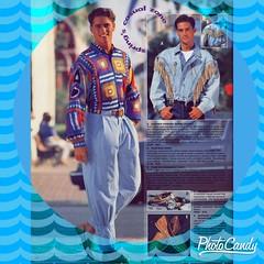 1990 Men?s Fashion Advertisement with blue aqua backround