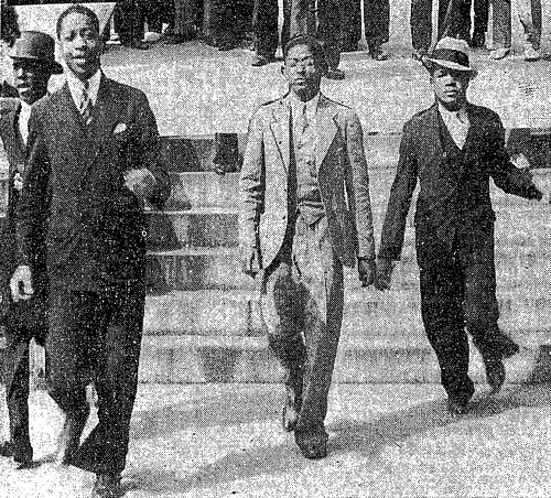 Afro journalist Fred Weaver, center, at Capitol protest: 1934 | by Washington Area Spark
