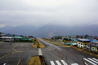 Lukla airport with low clouds | by steve.upton