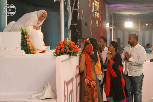 Local dignitaries seeking blessings