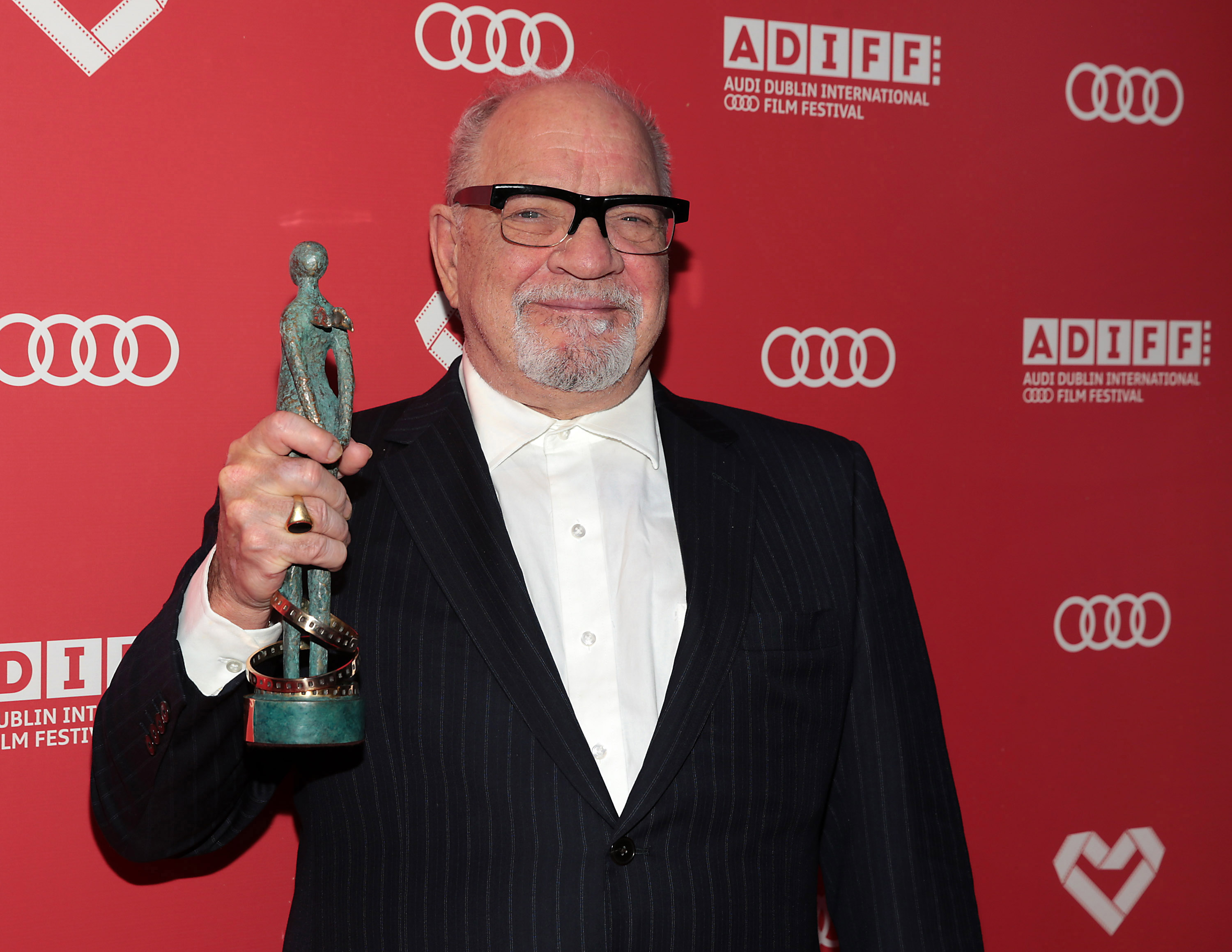 Paul Schrader with Volta Award following his Irish premiere screening of First Reformed at the Audi Dublin International Film Festival (ADIFF 2018)