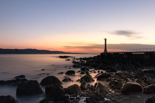 nature landscape seascape sea sky cloud sunset longexposure japan nagasaki minamishimabara lighthouse