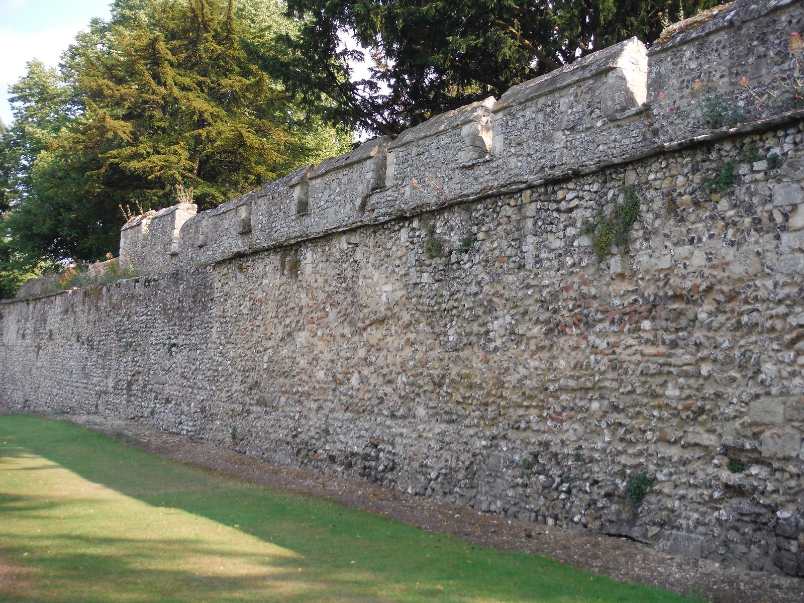 Old City Wall by Wolvesey Castle SWC Walk 15 : Winchester Circular