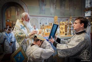 Литургия в Софийском соборе 500