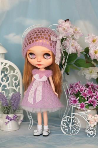 Fluffy hand-knitted dress   by Elena_art