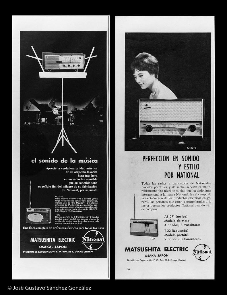 National tube tabletop DU-356 and transistor radios (T-26