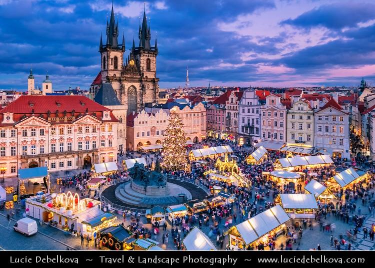 Prague Christmas Market.Czech Republic Prague Traditional Christmas Markets At