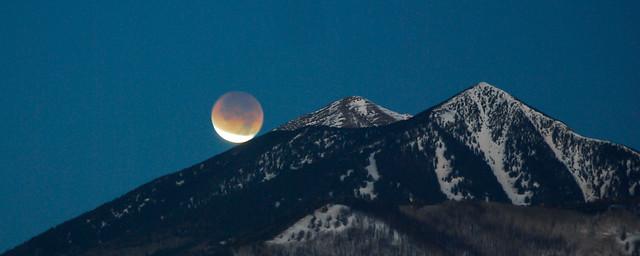 Lunar Eclips over the San Francisco Peaks