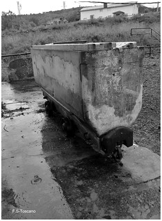 Vagoneta minera. Mining wagon.