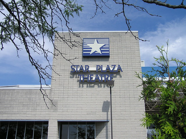 Star Plaza Theater Sign