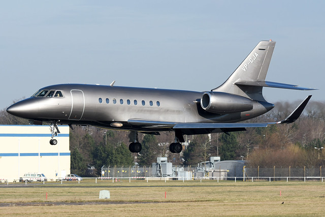 VP-CJA Executive Air Transport Dassualt Falcon 2000 (Farnborough EGLF) 17/02/2018