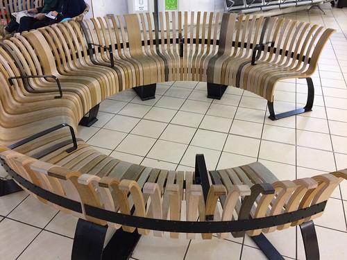 luton airport committee meeting seating circular bent wood glued laminated shaped furniture