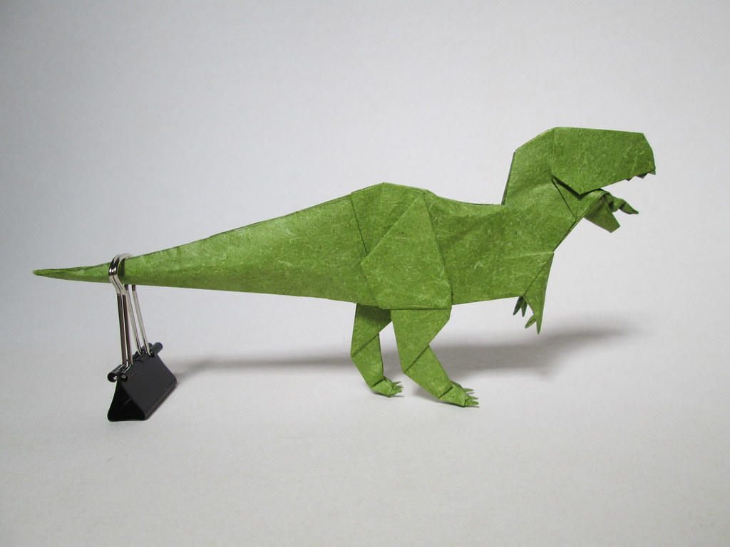 Part1/3 : How to fold Origami T-Rex 摺紙暴龍教學(Kade Chan ... | 768x1024