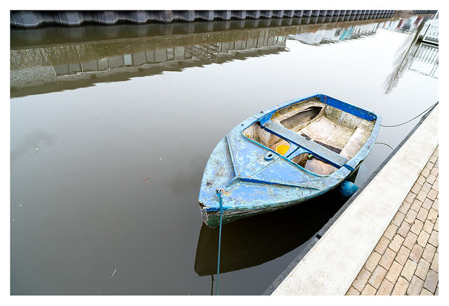 Boat, just afloat