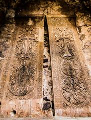 Armenian khachkars at Dadivank monastery