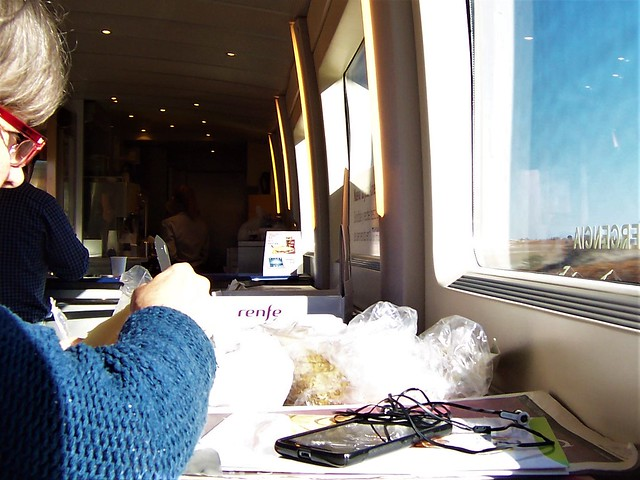 A Spanish lady deftly peels Manchego cheese at 300 km/h