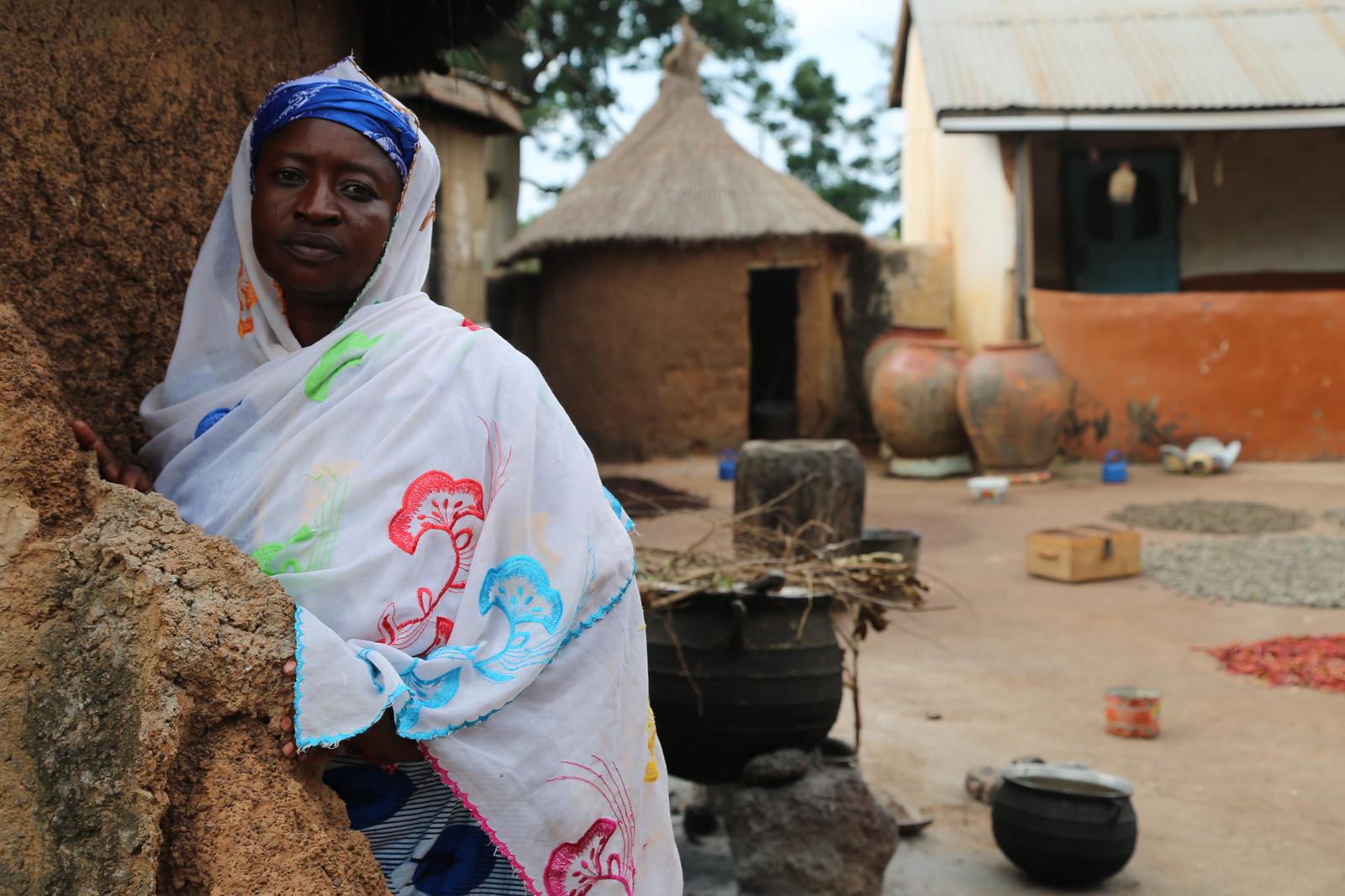Awubu Damba, one of the Africa RISING women farmers from Cheyohi No. 2 Community in the Northern Region of Ghana.Photo credit: Jonathan Odhong'/IITA.