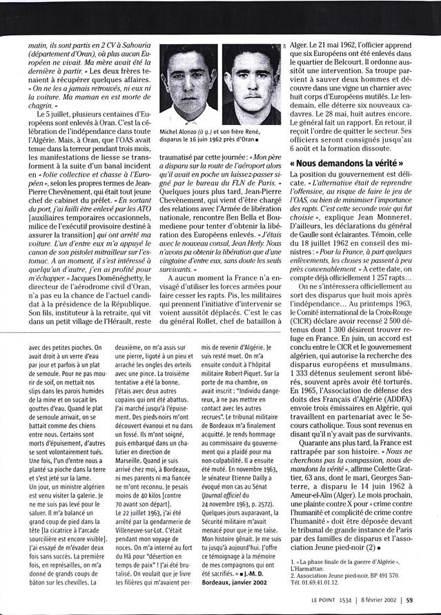 Les disparus en Algérie