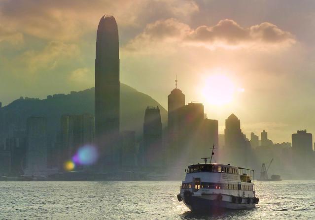Evening over Hong Kong.