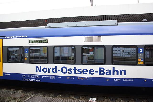 NOB: Anschriften am Steuerwagen des NOB-Marschbahn-Express