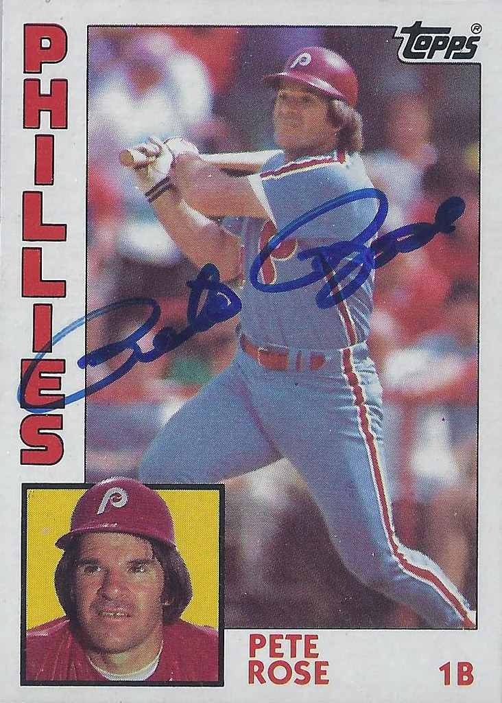 1984 Topps Pete Rose 300 First Base Autographed Bas Flickr