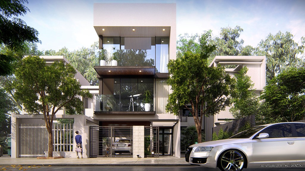 4Stories Home Lumion8 | 4Stories Home Daylight Render by Lum