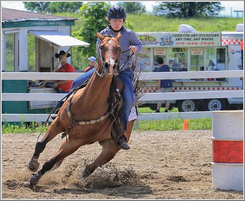 canon eos 70d 70200mm ef70200f4l psp2018 paintshoppro2018 efex topaz paris fair barrelracing sport action ontario canada horses horse