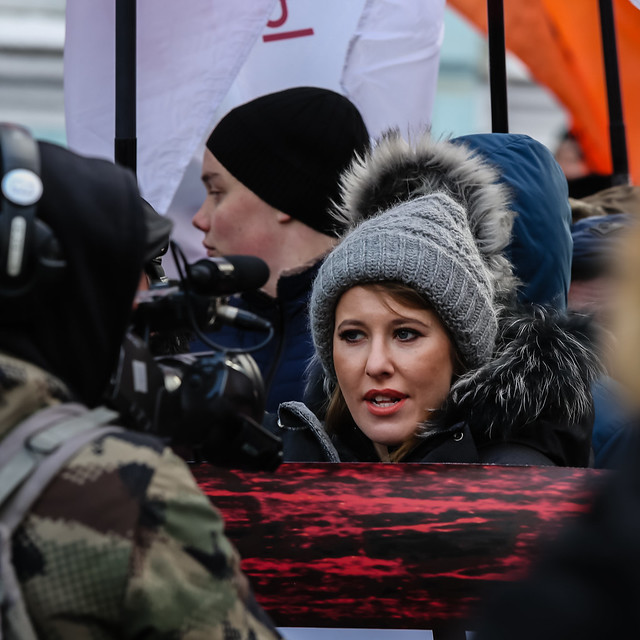 Candidate for President of Russia Ksenia Sobchak