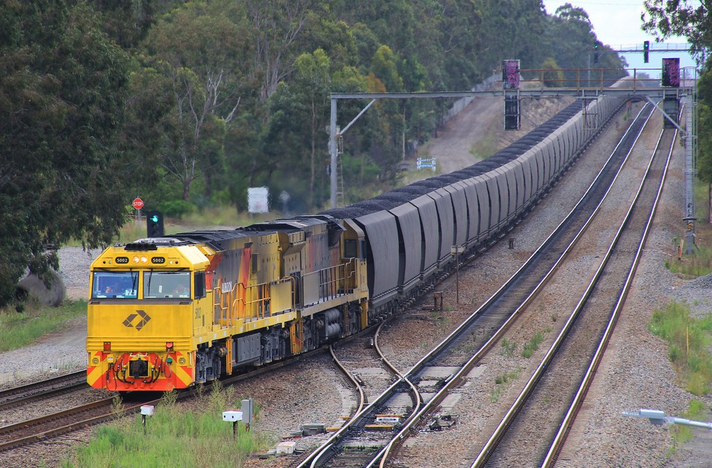 5002 and 5029 takes the back roads at Thornton on NB936 loaded coal from Narrabri by bukk05