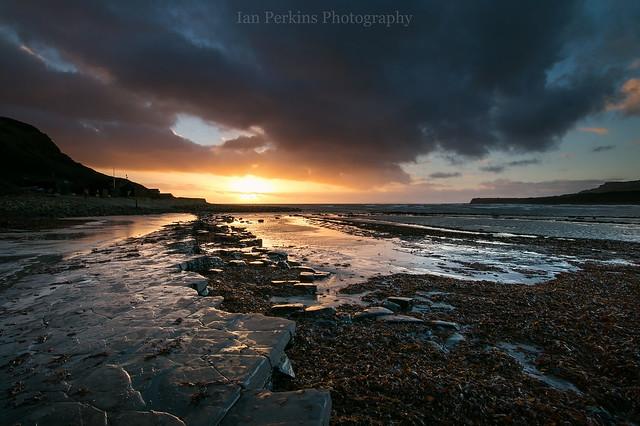 Kimmeridge Bay at Sunset