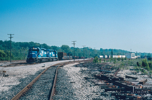 yard 6422 sd402 trainmepi9 cr switchstand conrail train sharon pennsylvania unitedstates us