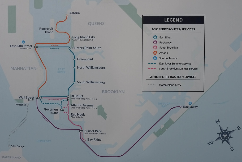 NYC Ferry Routes | Paul Sableman | Flickr