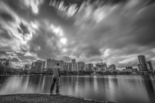 monochrome blackandwhite bw contrast landscapephotography landscapes floridalandscape citybeautiful orlando florida writer longexposurejunkies longexposurephoto longexposure cityscape skyline wideangle canonoffical canon flickr imagine thought expansion clouds steaks moody city sky people park building skyscraper water landscape solo solitude