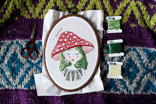 embroidery - the mushroom girl