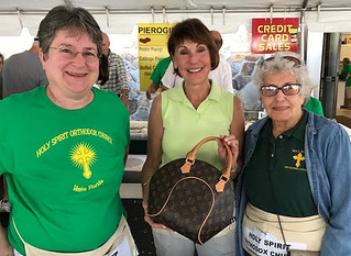 Lori, Marge & Nora at Yard Sale | by Holy Spirit Orthodox Church