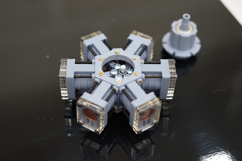 3D Printed radial Steam Engine - Inside | Viewing the inside