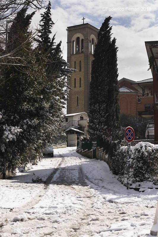 neve a La Storta Campanile
