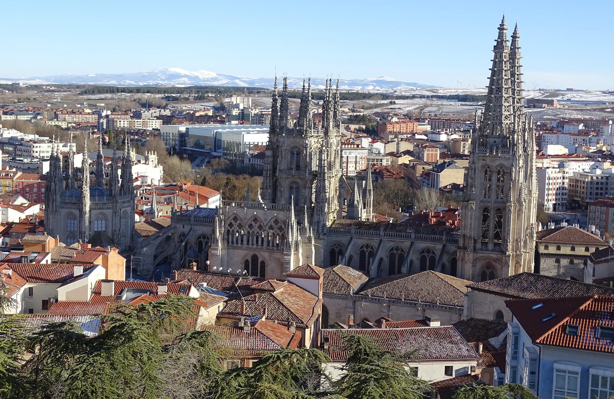 Catedral de Burgos desde el Castillo