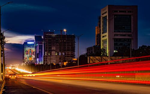 islamabad islamabadcapitalterritory pakistan pk night nightscape nightlife street streetlife cityscape city skyscraper skyline blue hour sky dusk cloudscape clouds long exposure downtown light trails sunset sundown ca 6d urban streaks
